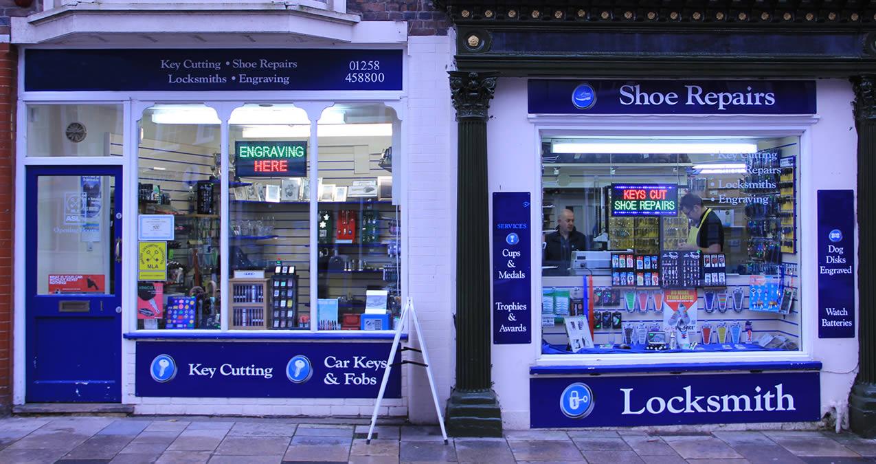 Key Cutting, Shoe Repairs, Locksmiths, Engraving, Blandford